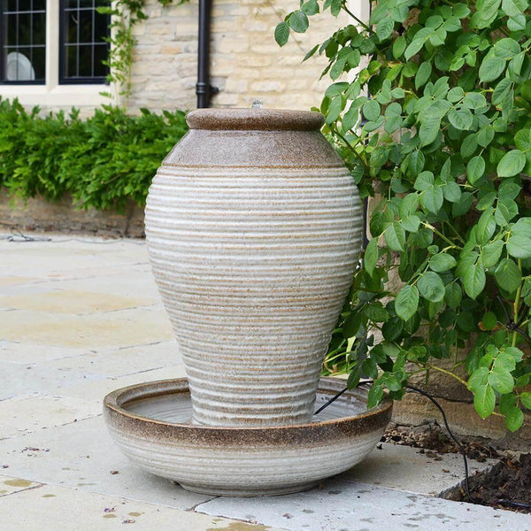 Ripple Urn Water Feature with LED Light - Gardenesque