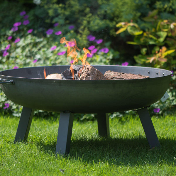 Hoole Round Cast Iron Firepit With Legs - 3 Sizes - Gardenesque