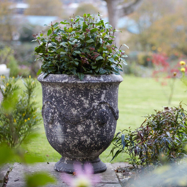 Fibreclay Garden Urn with Drainage Hole - 2 Sizes - Gardenesque