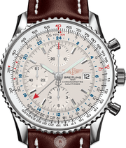Breitling NAVITIMER 1 CHRONOGRAPH GMT 46 Steel Silver  A2432212/G571 - Watches R us
