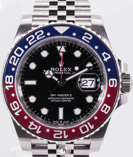 Rolex GMT-MASTER II Oyster, 40 mm, Oystersteel PEPSI - Watches R us