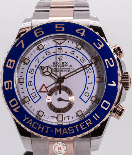 Rolex YACHT-MASTER II Oyster, 44 mm, Oystersteel and Everose gold 116681 - Watches R us