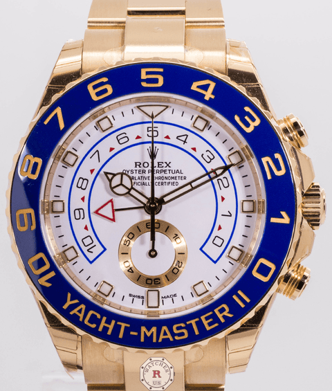 Rolex YACHT-MASTER II Oyster, 44 mm, Yellow Gold 116688 - Watches R us