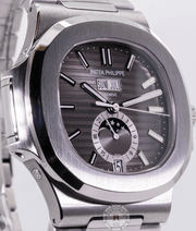Patek Philippe 5726/1A - NAUTILUS  SELF-WINDING ANNUAL CALENDAR, MOON PHASES. - Watches R us