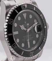 Rolex SUBMARINER Date 40mm Steel Black Dial 116610LN 2017 Model - Watches R us
