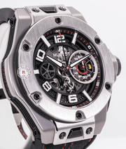 Hublot BIG BANG FERRARI UNICO TITANIUM 45 mm Limited Edition - Watches R us