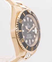 Rolex SUBMARINER DATE Oyster 40mm Yellow Gold 116618LN - Watches R us