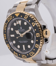 Rolex GMT-MASTER II Steel and Yellow Gold 116713LN - Watches R us