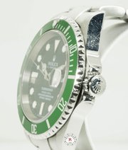 Rolex 16610LV Submariner Date Kermit 40mm Steel 2007 Model - Watches R us
