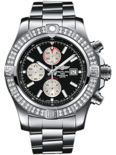 Breitling Super Avenger II Black Diamond Dial A1337153/BC29-168A - Watches R us