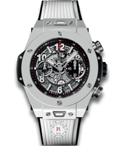 Hublot BIG BANG UNICO WHITE CERAMIC 45 mm 411.HX.1170.RX - Watches R us