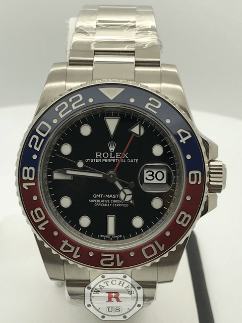 Rolex GMT-MASTER II White Gold Pepsi 116719BLRO - Watches R us