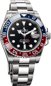 Rolex GMT Master II 18k White Gold Pepsi Bezel 116719 - Watches R us
