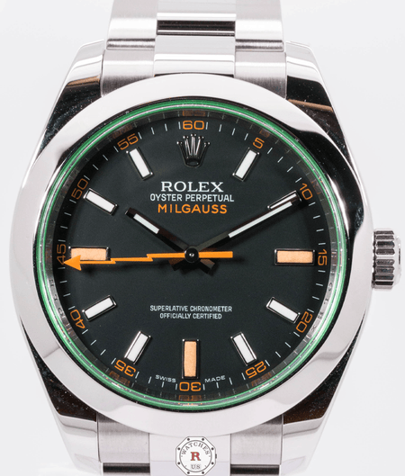 Rolex MILGAUSS Oyster 40mm Oystersteel 2008 Model Unworn - Watches R us