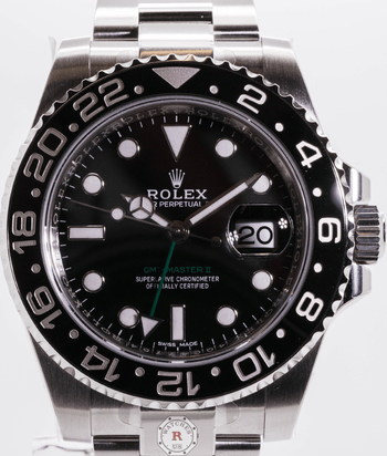 Rolex GMT-MASTER II Steel 40mm Black Dial 116710LN 2019 Model - Watches R us