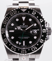 Rolex GMT-MASTER II Steel 40mm Black Dial 116710LN - Watches R us