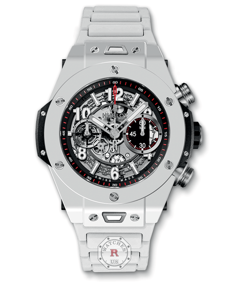 Hublot BIG BANG UNICO WHITE CERAMIC BRACELET 45 mm 411.HX.1170.HX - Watches R us