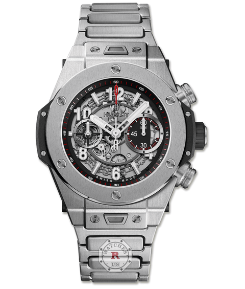 Hublot BIG BANG UNICO TITANIUM BRACELET 45 mm 411.NX.1170.NX - Watches R us