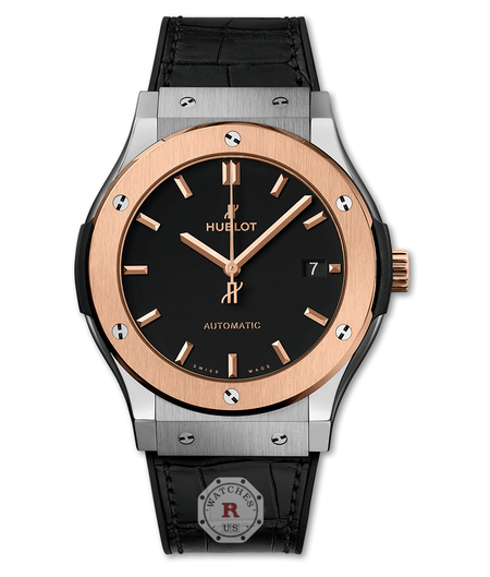 Hublot CLASSIC FUSION TITANIUM KING GOLD 45 mm Available Sizes : 42-38-33 mm - Watches R us