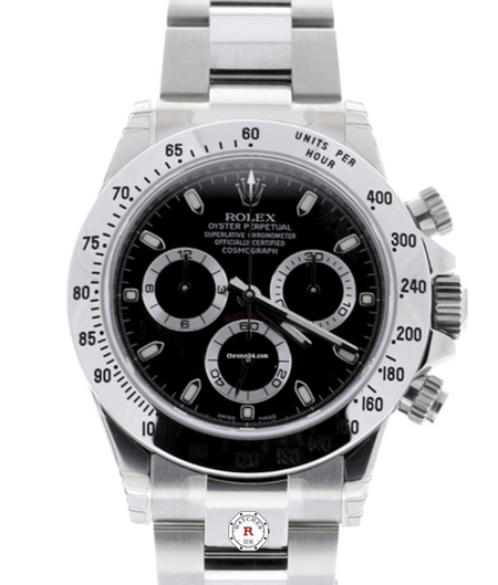 Rolex Cosmograph Daytona Stainless Steel Automatic Black Dial  - 116520 - Watches R us