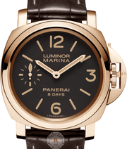 Panerai LUMINOR MARINA 8 DAYS ORO ROSSO - 44MM PAM00511 - Watches R us