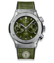 Hublot CLASSIC FUSION CHRONOGRAPH TITANIUM GREEN 45 mm - Watches R us