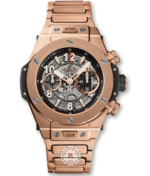 Hublot BIG BANG UNICO KING GOLD BRACELET 45 mm 411.OX.1180.OX - Watches R us