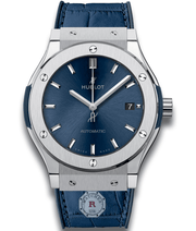 Hublot CLASSIC FUSION BLUE TITANIUM 45 mm Available Sizes : 42-38-33 mm - Watches R us