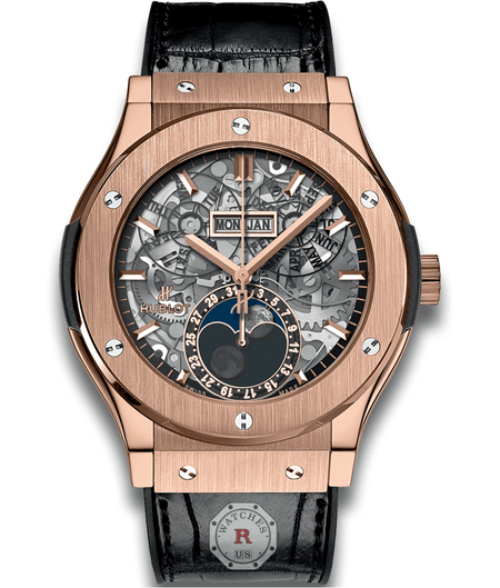 Hublot CLASSIC FUSION AEROFUSION MOONPHASE KING GOLD 45 mm Available Sizes : 42 mm - Watches R us