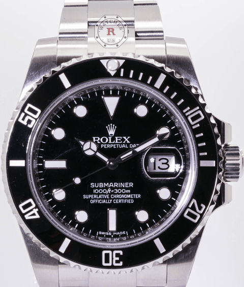 Rolex SUBMARINER 40mm Steel Black Dial 116610LN  2017 - Watches R us