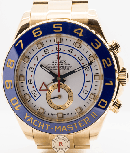 Rolex YACHT-MASTER II yellow gold 44mm 116688 - Watches R us
