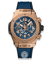Hublot BIG BANG UNICO KING GOLD BLUE 45 mm 411.OX.5189.RX - Watches R us