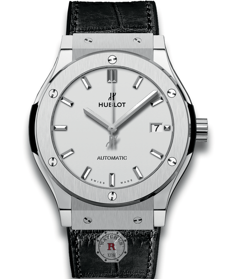 Hublot CLASSIC FUSION TITANIUM OPALIN 45 mm Available Sizes : 42-38-33 mm - Watches R us