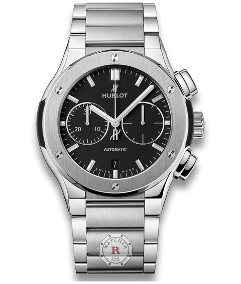 Hublot CLASSIC FUSION CHRONOGRAPH TITANIUM BRACELET 45 mm Available Sizes : 42 mm - Watches R us