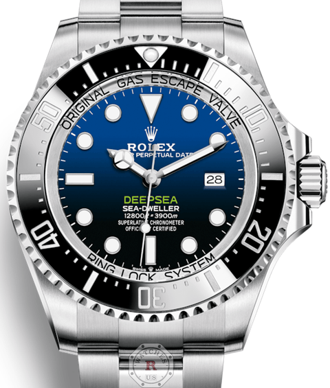 Rolex DEEPSEA D-BLUE DIAL JAMES CAMERON 126660 - Watches R us
