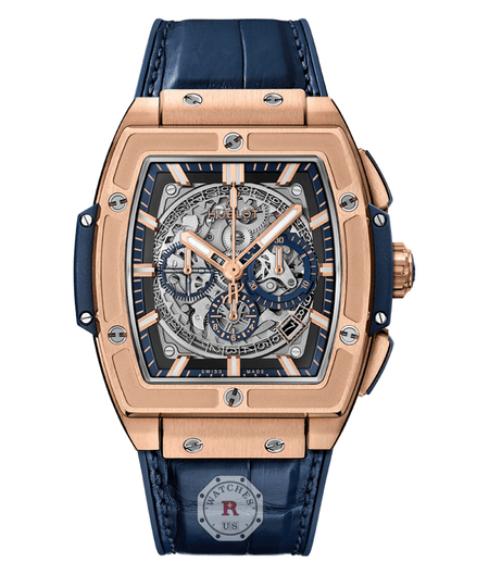 Hublot SPIRIT OF BIG BANG KING GOLD BLUE 45 mm Available Sizes : 42 mm - Watches R us