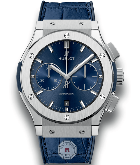 Hublot CLASSIC FUSION BLUE CHRONOGRAPH TITANIUM 45 mm - Watches R us