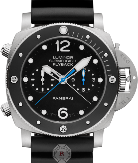 Panerai LUMINOR SUBMERSIBLE 1950 3 DAYS CHRONO FLYBACK  TITANIO - 47MM PAM00615 - Watches R us