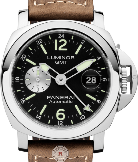 Panerai LUMINOR GMT AUTOMATIC ACCIAIO - 44MM PAM01088 - Watches R us