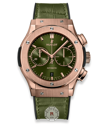 Hublot CLASSIC FUSION CHRONOGRAPH KING GOLD GREEN 45 mm - Watches R us