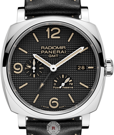 Panerai RADIOMIR 1940 3 DAYS GMT POWER RESERVE ACCIAIO – 45MM PAM00628 - Watches R us