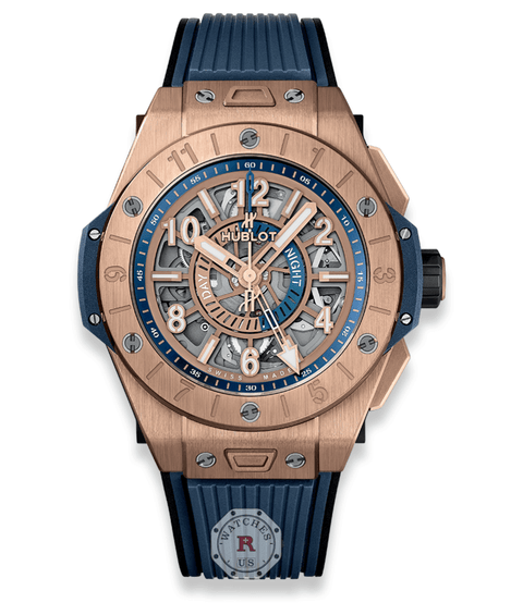 Hublot BIG BANG UNICO GMT KING GOLD 45 mm 471.OX.7128.RX - Watches R us