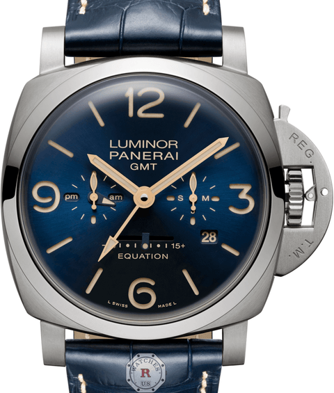Panerai LUMINOR 1950 EQUATION OF TIME 8 DAYS GMT TITANIO - 47MM PAM00670 - Watches R us