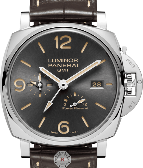 Panerai LUMINOR DUE 3 DAYS GMT POWER RESERVE  ACCIAIO – 45MM PAM00944 - Watches R us