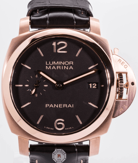 Panerai LUMINOR MARINA 18k Red Gold PAM00393 - Watches R us