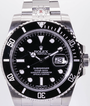 Rolex SUBMARINER 40mm Steel Black Dial 116610LN  2014 - Watches R us