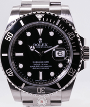 Rolex SUBMARINER Date 40mm Steel Black Dial 116610LN 2018 Model - Watches R us
