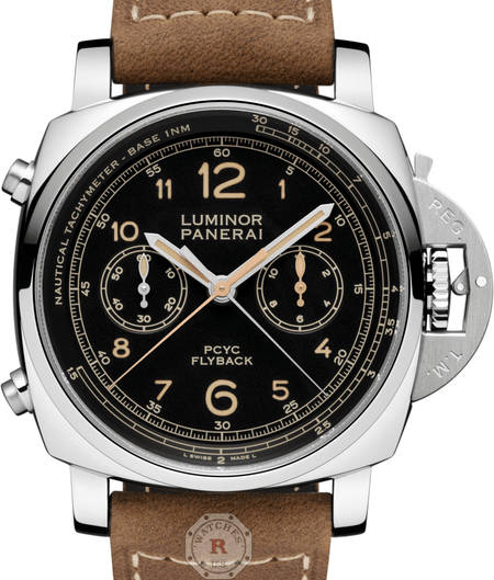 Panerai LUMINOR 1950 PCYC 3 DAYS CHRONO FLYBACK  ACCIAIO - 44MM PAM00653 - Watches R us