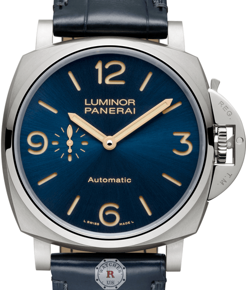Panerai LUMINOR DUE 3 DAYS AUTOMATIC TITANIO - 45MM PAM00729 - Watches R us