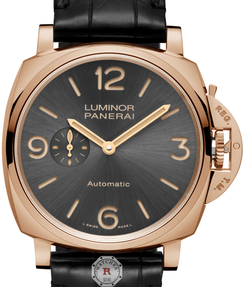 Panerai LUMINOR DUE 3 DAYS AUTOMATIC ORO ROSSO - 45MM PAM00675 - Watches R us